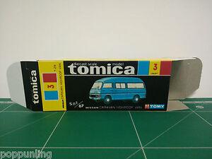 REPRODUCTION BOX for Tomica Black Box No.3 Nissan Caravan Highroof Van