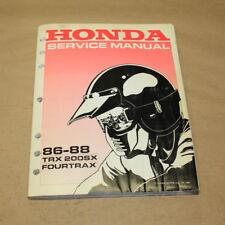 Honda 1986-1988 TRX 200 SX Fourtrax Factory Service Manual Repair Book OEM