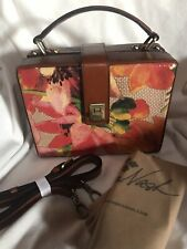 NWT Patricia Nash Tauria Box handbag - Spring Multi Straw Collection