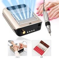 Pro 2 in 1 Nail Drill Machine Electric Nail File & Nail Suction Dust Collector
