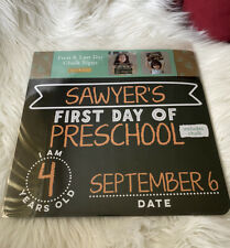Kate & Milo First and Last Day of School Reversible Chalkboard Kids Chalk Sign