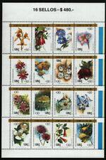 Chile 1988 - Mi-Nr. 1237-1252 ** - MNH - Blumen / Flowers