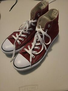 Converse All Star Chuck Taylor II RED High Tops unisex Men's 9