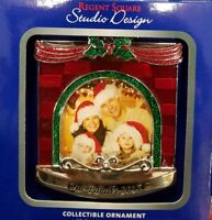 OUR FAMILY 2017 Regent Square Fireplace Picture Frame Ornament European Crystal