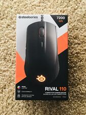 SteelSeries Rival 110 Gaming Mouse 7200 CPI TrueMove1 Optical Sensor Lightweight
