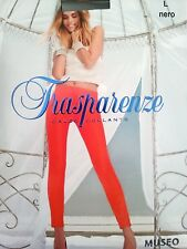 Trasparenze Museo Collection Thick glossy body shaper tights size S Black