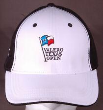 Valero Texas Open Hat-TPG Golf-Black/White-AHEAD-San Antonio-Hook & Loop-Links..