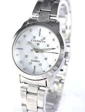 Eternity Ladies Watch Sparkling Genuine Swarovski Crystals Silver Tone Strap