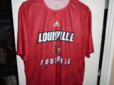 Adidas Louisville Football Team Issued Xl Red Climalite short sleeve shirt