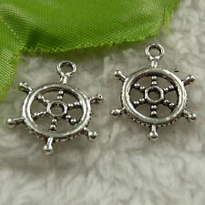 free ship 180 pcs tibet silver steering wheel charms 20x15mm #4281