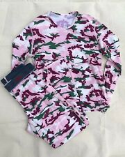 Youth Hot Chilly's Base Layer Top & Bottom long underwear warm Pink Camo Size M