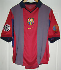 Camiseta Barcelona champions league 2000 - 2001 home shirt Rivaldo 10 jersey
