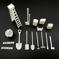 1/16 White Tool Kits Shovel for WPL 4WD 2.4 RC Car Vehicle Models Body Decor