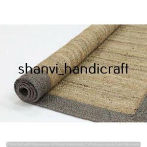 Braided Handwoven Bohemian Natural Jute Rectangle 3x4 Feet Floor Carpet Area Rug