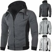 Men's Winter Warm Slim Hoodie Hooded Sweatshirt Sweater Coat Jacket Outwear