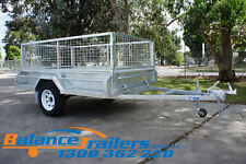 8x5 GALVANISED FULLY WELDED BOX TRAILER WITH 600MM CAGE & BRAKE ATM 1400KG