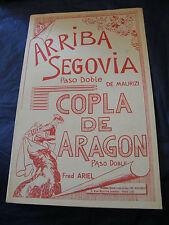 Partition Arriba Segovia de Maurizi Copla de Aragon Ariel Music Sheet 1
