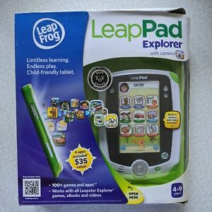 LeapFrog LeapPad Explorer Tablet With Camera Green. New