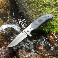 Outdoor Tactical Folding Knife Assisted Opening Bowie Survival Camping Hunting