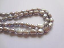 "5-6mm Irregular Grey Genuine Freshwater Pearl Beads - 15"" Strand"
