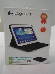 NEW * Logitech Ultrathin Keyboard Folio for 10.1-Inch Samsung Galaxy Tab 3 Black