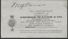 1800's Prescription Cover from George Waugh & Co Pharmaceuticals UK
