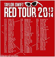 Taylor Swift Tee Shirt Adult SMALL S NWOT Red Sitting Concert Tour T-Shirt New