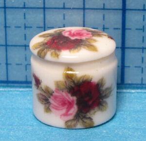 "Dollhouse Porcelain rose dresser box-bedroom or bath-1:12 scale-1/2"" x 1/2"""