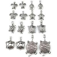 22402 16pcs Vintage Sea Turtle Pendant DIY Jewelry Marking Charm