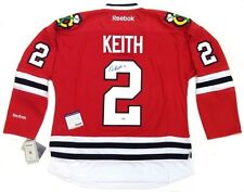 DUNCAN KEITH SIGNED CHICAGO BLACKHAWKS 2010 CUP JERSEY PSA/DNA COA