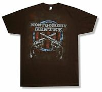 Montgomery Gentry Crossed Guns Tour CA-NV Black T Shirt New Official Merch