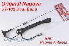 Original NAGOYA UT-102 BNC DUAL BAND Mobile Magnet Antenna Yaesu Icom Marantz