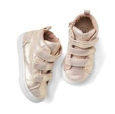 Baby Gap Girl's Fall '17 Rose Gold Shimmer Hi Top Trainers Shoes Size 7 NWT