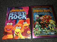 Fraggle Rock 2 DVD LOT Live by the Rule of the Rock/Where it All Began 👀