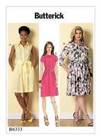 Butterick Easy SEWING PATTERN B6333 Misses/Womens/Petite Dress & Sash