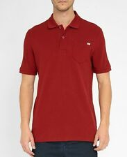 G Star Raw Pitro Slim Fit Polo Shirt w/Pocket Mens XXL Red Cotton Pique NWT $80