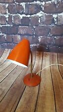 VINTAGE RETRO METAL SWAN NECK DESK TABLE LAMP 1950'S 1960'S 1970'S MID CENTURY