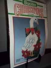 Bucilla Christmas Goose Plastic Canvas Doorstop