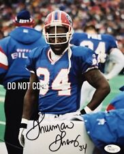 Thurman Thomas SIGNED AUTOGRAPHED BUFFALO BILLS 8X10 PHOTO JSA Certified