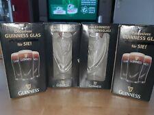 5 Guinness Editionsgläser 0,5L von 2010, mit geprägter Harfe, unbenutzt