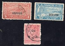 INDIA STATE TRAVANCORE ANCHEL USED SG 68