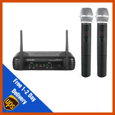 Pulse VHF Dual Wireless Handheld Microphone Mic System | DJ | PA | Disco