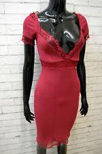 Vestito Donna Liu Jo Taglia 38 Slim Tubino Abito Dress Woman Bordeaux Kleid Robe
