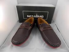 New Men's Masimo Brown Solid Faux Leather Fashion Casual Driver Shoes #1262-28