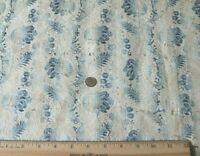 """Antique French c1770 Blue Silk Brocade Fabric~L-35""""X W-20""""~Dolls,Design"""