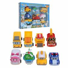 8Pcs/Set Robocar Poli Transformation Robot Car Toys South Korea Thomas Toys XX
