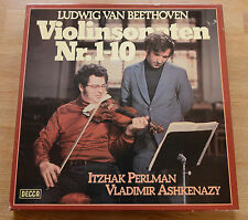 BEETHOVEN violin sonatas 1-10 PERLMAN ASHKENAZI  5LP box DECCA 6.35354