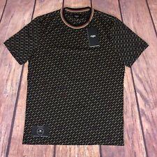 """FENDI All Over T-shirt à encolure ras-du-cou à Imprimé-RRP £ 395-Taille L 21"""" Pit pour Pit"""