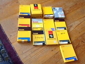 Vintage LOT of  4x5 film  partial boxes around 300 sheetEXPIRED AS IS no returns