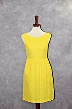 J CREW Lucille Bright Yellow Lace dress with pockets Sz 2 $188  83887